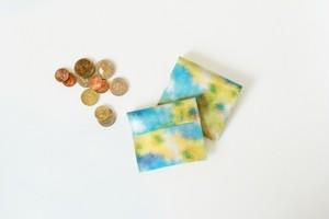 青い霧と、黄色い空のコインケース|受注制作