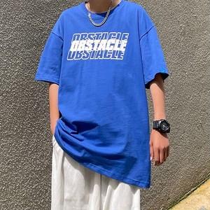 フロントロゴプリントTシャツ BL9047