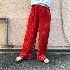 Pattern wide pants / I