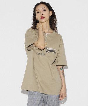 Creation of Adam T-shirt [Beige]