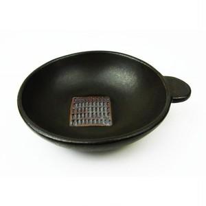 おろし付き小鉢「パン丸」黒