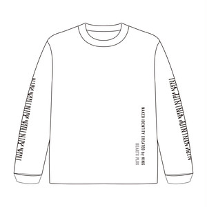 【Naked Identity Created by King×Hearts コラボT】Long sleeve White