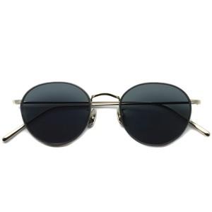 A.D.S.R. / BUKEM04(a) ブケム / Silver - Black Lenses シルバー-ブラックレンズ(ダークグレー) ラウンドメタル ボストン サングラス