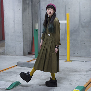 CUT JUMPSUITS DRESS / KHAKI
