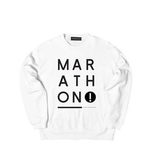 NINE CREW SWEAT M381102- WHITE / クルー スウェット シャツ  MARATHON JACKSON マラソン ジャクソン