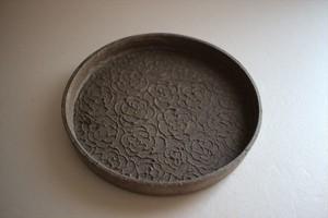 望月万里|土灰 5寸銅鑼鉢①