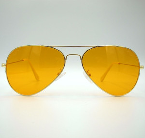 "Shady Spex ""TV Eye"" sunglasses, Gold w/Orange lenses"