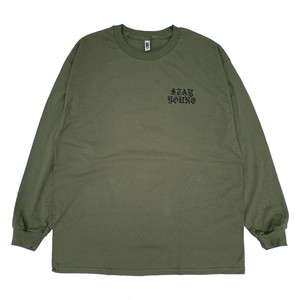 "SIXSENSE ""STAY YOUNG"" L/S -military green-"
