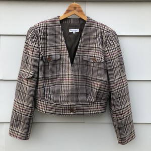 ARMANI Plaid Wool Jacket