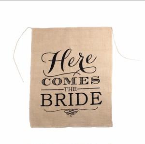 【販売】Here Comes the Bride フラッグ