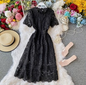 chic lacey dress 4color