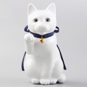 へそくりの招き猫 壱号白 / Manekineko Bank First Model White
