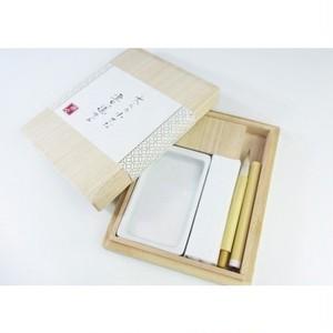大人の小さな書道セット 陶磁器硯 「七宝」 qr09-1704