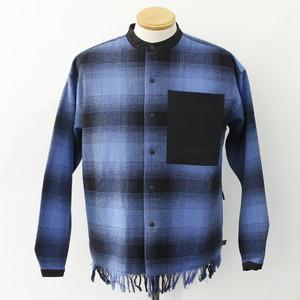 【FILA HRTG】BAND COLLAR SHIRTS (BLUE)