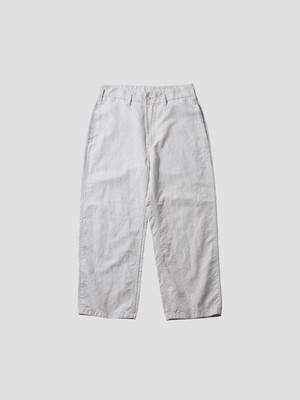 PORTER CLASSIC BELL EPOQUE LINEN CLASSIC PANTS White  PC-021-1527
