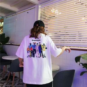 【トップス】insヒットルーズヒップホップbf欧米短袖Tシャツ