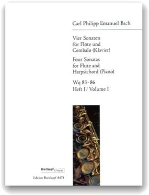 C.Ph.E.バッハ:フルートとチェンバロ(ピアノ)のための4つのソナタ 第1巻 Wq83,84/フルート・ピアノ