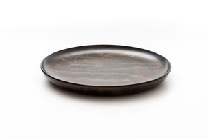 黒拭き漆 平皿(中)