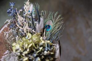 ブルーグリーンの花束