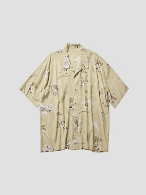 PORTER CLASSIC ALOHA SHIRT SKATEBOADING Yellow PC-024-1553