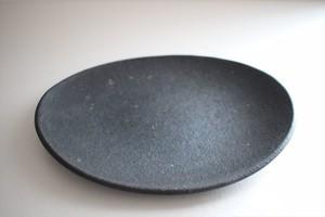 フルカワゲンゴ(撫菜花工藝)|南蛮(墨) 楕円皿