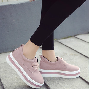 【sneakers】2018 new British style thick bottom casual students Slip-on sneakers