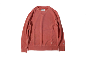 SALE!!40%OFF  T・H・M  Stone Wash Crew Sweat ライトレッド L