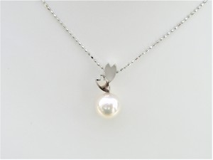 PT 桜と真珠のペンダントネックレス