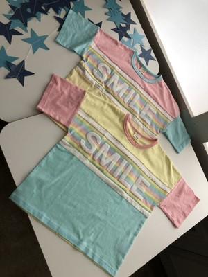 【2019SS 女の子】 切り替えビッグシルエットTシャツ 30692