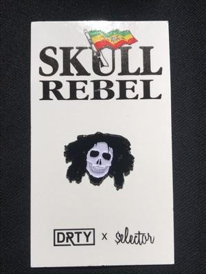 """DRTY""""SKULL REBEL PIN"""""""
