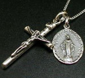 【ヘッドのみ】十字架 聖母マリア像&ロザリオクロス