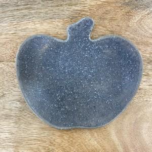 古谷製陶所  /  グレー釉 りんご皿〈小〉