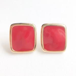 """Monet"" red square pierce[p-656]"