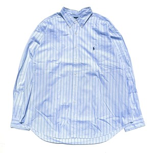 USED Ralph Lauren classicfit B.D. stripe shirts - blue