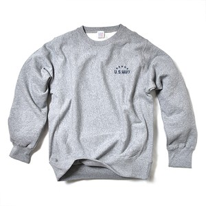 CREW NECK SWEAT / U.S. WAVY / HEATHER GRAY