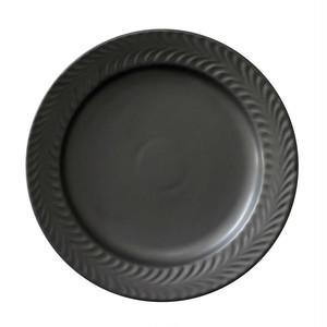 波佐見焼 翔芳窯 ローズマリー リムプレート 皿 17.5cm マットブラック