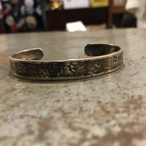 "vintage  silver925 ""STAR"" motif bangle"