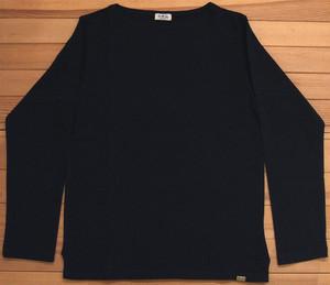 D.M.G ドミンゴ DMG 19-068N 19-8 ボートネックシャツ ブラック バスクシャツ 無地 カットソー バスクT ロンT BD天竺 MadeinJAPAN 日本製