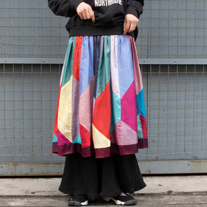 Shiny Patchwork Skirt