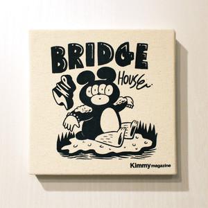 Kimmy magazine issue01 & BRIDGE SHIP HOUSE 直筆サイン入りファブリックボード
