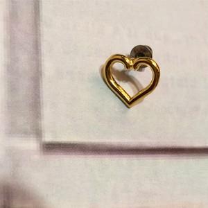 CHAIN Earring M 片耳 #1805/gold  チェーンイヤリング/片耳M ハート/ゴールド