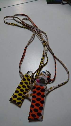African batik ライターネックホルダー