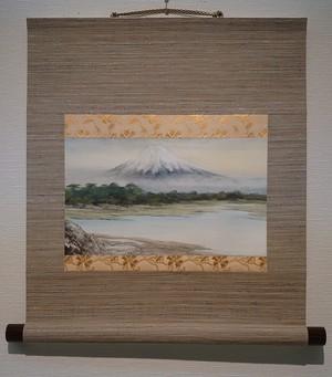 水墨画「 夜明けの富士」/ffuji at dawn