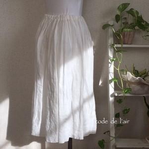 リネンガーゼバルーンスカート・ホワイト