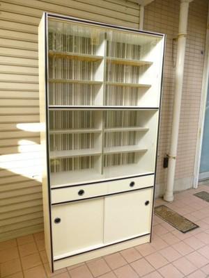 レトロな食器棚【白/90】 (0612101YD)