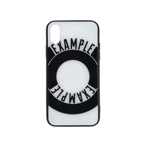 EXAMPLE ROUND LOGO iPhone CASE /WHITE