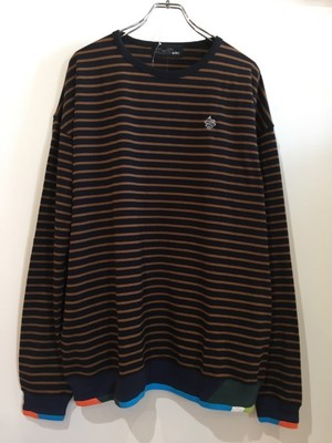 ALDIES=アールディーズ【Rib Switching Long T】#Brown