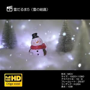 雪だるま5(雪の結晶)