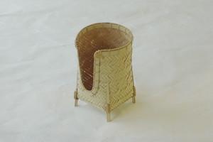 日本製 白竹 碗筒 網代(あじろ)編み