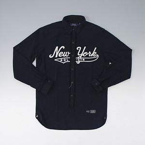POLO RalphLauren ポロ・ラルフローレン NEW YORK BASEBALLオックスフォードスポーツシャツ ブラック